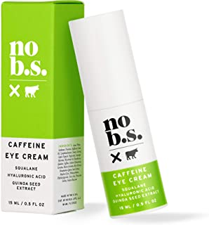 No B.S. Caffeine Eye Cream With Hyaluronic Acid and Plant