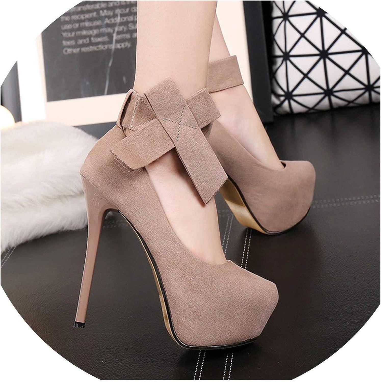 Platform high Heels Wedding shoes Platform Women high Heels Bow Stiletto Bridal shoes,Apricot,5