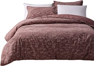PHF Velvet Jacquard Queen Duvet Cover Set Halloween Cameo Brown - Silver Chenille Bedding with Button Closure and Corner Ties - Warm for Winter Heavyweight Luxury (2 Pillow Shams and 1 Duvet Cover)