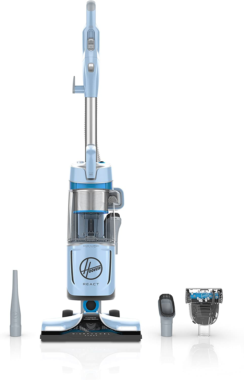 Hoover React QuickLift In Elegant a popularity Bagless Upright HEPA Cleaner with Vacuum