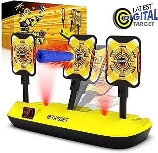 Phaxcoo Electronic Shooting Target Scoring Auto Reset Digital Targets for Nerf Guns Blaster