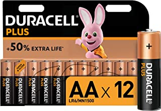 Duracell Plus AA Alkaline Batteries [Pack of 12], 1,5 Volts LR06 MN1500