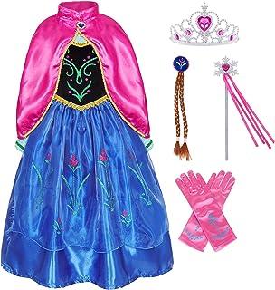 لباس مهمانی AmzBarley Princess Party برای دختران هالووین Cosplay نقش بازی لباس آستین بلند با کیپ