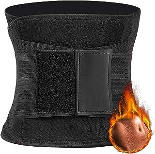 Faja Reductora Mujer y Hombre, Cintura Entrenador Adelgazante Deporte de Neopreno, Faja Ajustable Cinturón Lumbar Abdomen Barriga Cintura para Sudar Ejercicio Fitness Sauna