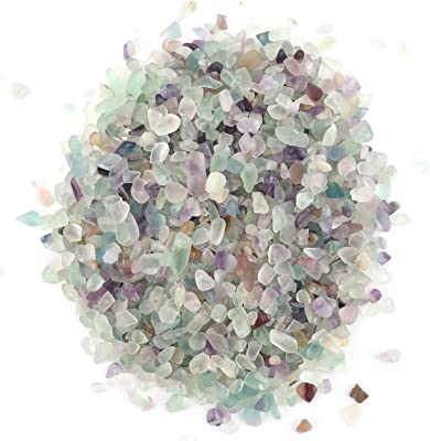 aafa7615f5b Amazon.com: SUNYIK Fluorite Tumbled Chips Stone Crushed Crystal ...