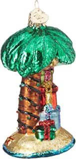 Old World Christmas Glass Blown Ornament Christmas Palm Tree (48037)