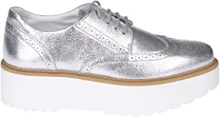 HOGAN Luxury Fashion Womens HXW3550AB00MECB200 Silver Lace-Up Shoes   Season Permanent