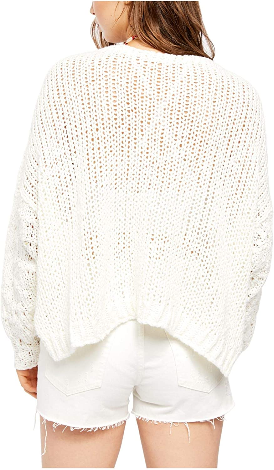 Free People Womens Open Stitch Sheer Crop Top
