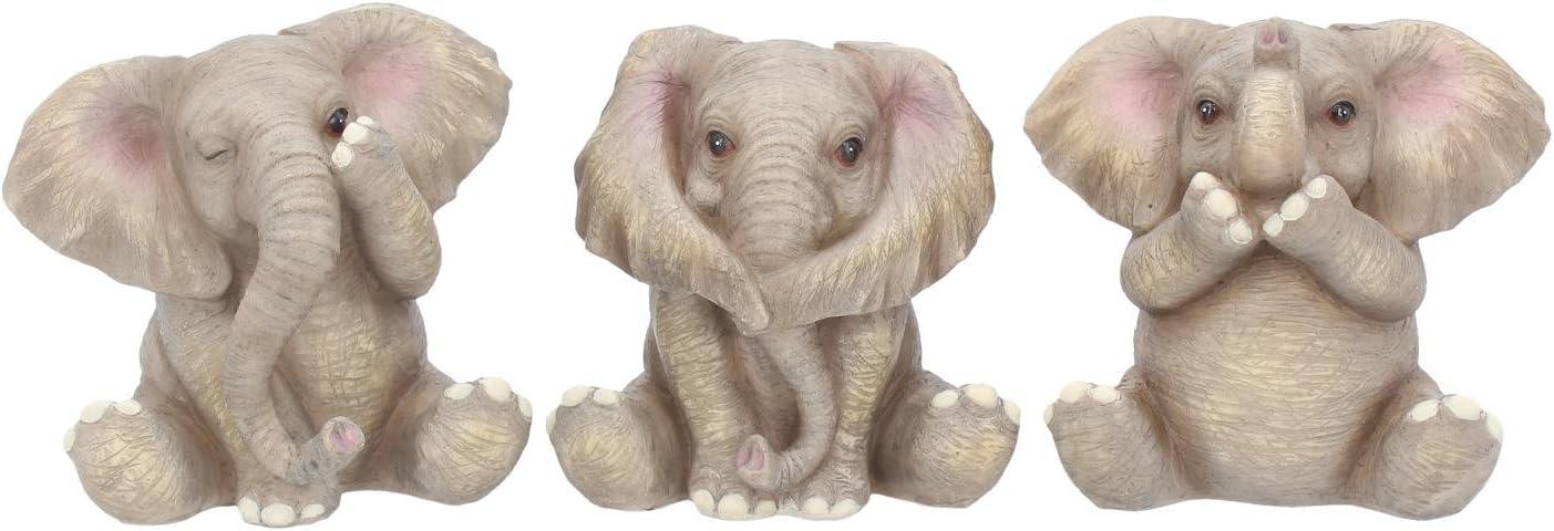 Nemesis Now Three Cash special price Baby 12cm Grey Figurine Large-scale sale Elephants