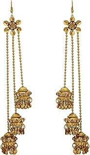 Kashmiri Style Indian Jewelry Fashion Antique Gold Pltaed Jhumka Jhumki Earrings