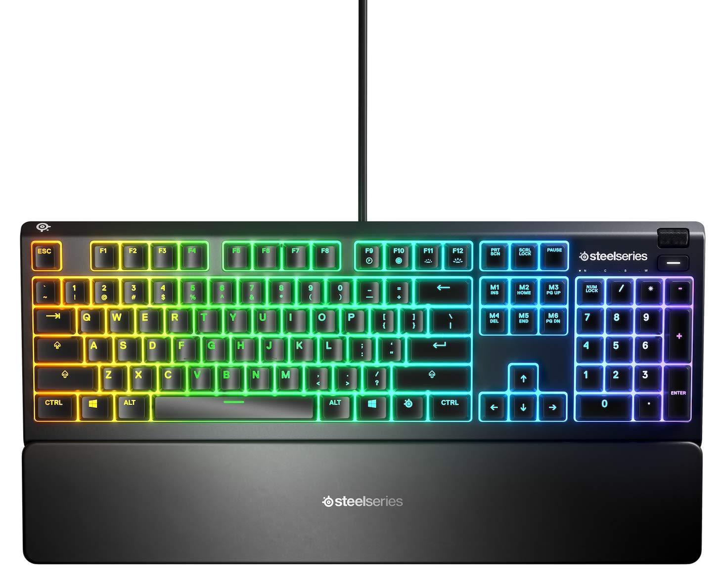 SteelSeries Apex 3 - Teclado RGB para Gaming (Iluminación RGB de ...
