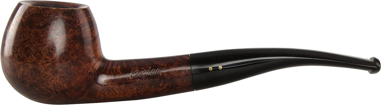 Brigham Algonquin 229 Tobacco Pipe - Bent Apple Smooth