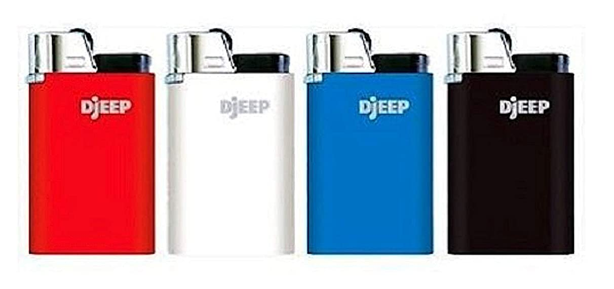 Djeep Lighters (Pack of 4) Assorted Plain Colores