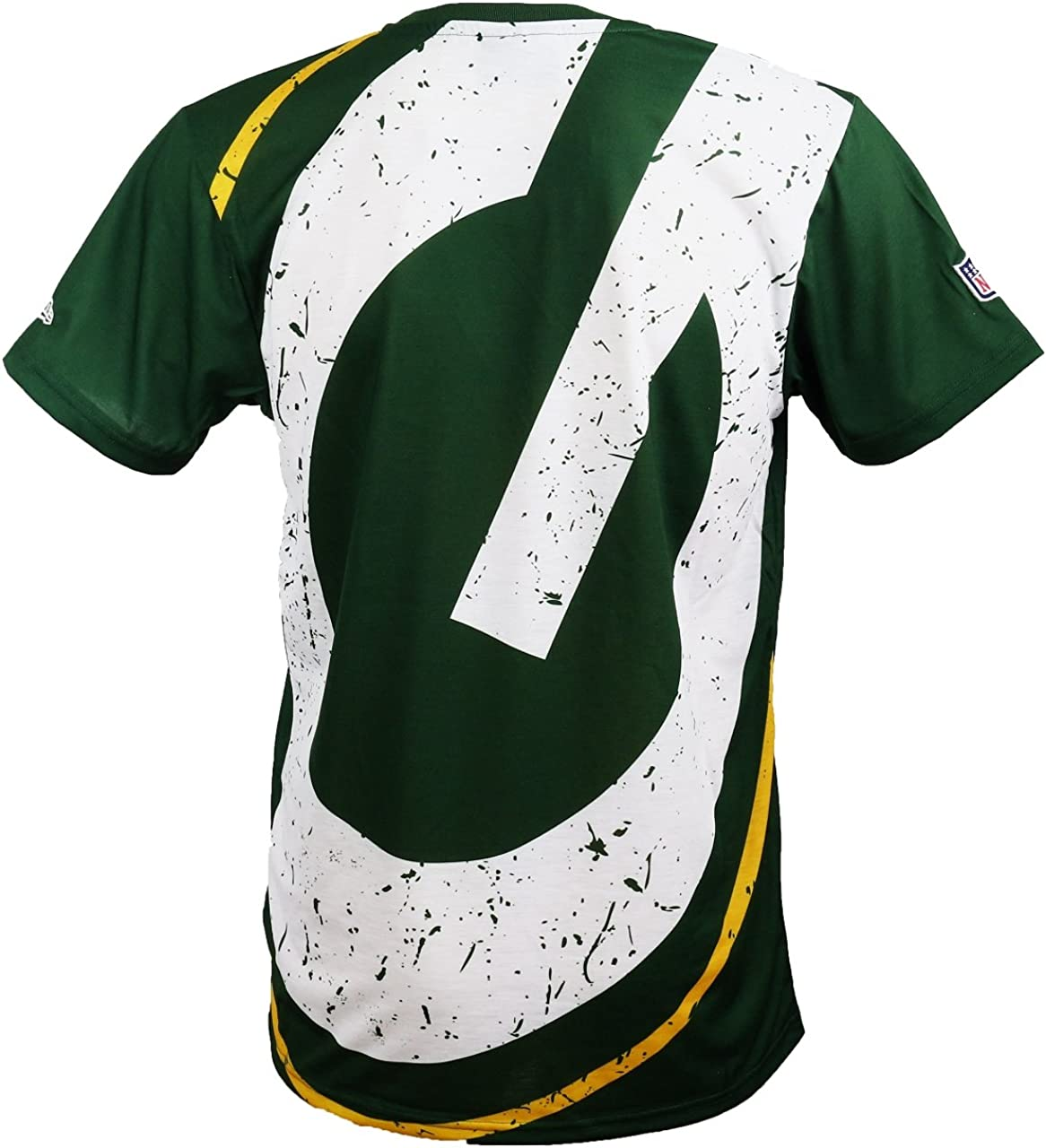 New Era Green Bay Packers Camiseta con Logo Grande en Verde para Hombre y Mujer