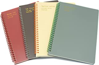 Yansanido 4 Pack Spiral Notebook Journal 10.1 x 7 Inch (B5) 160 Pages Lined Notebooks for Students Office School Supplies