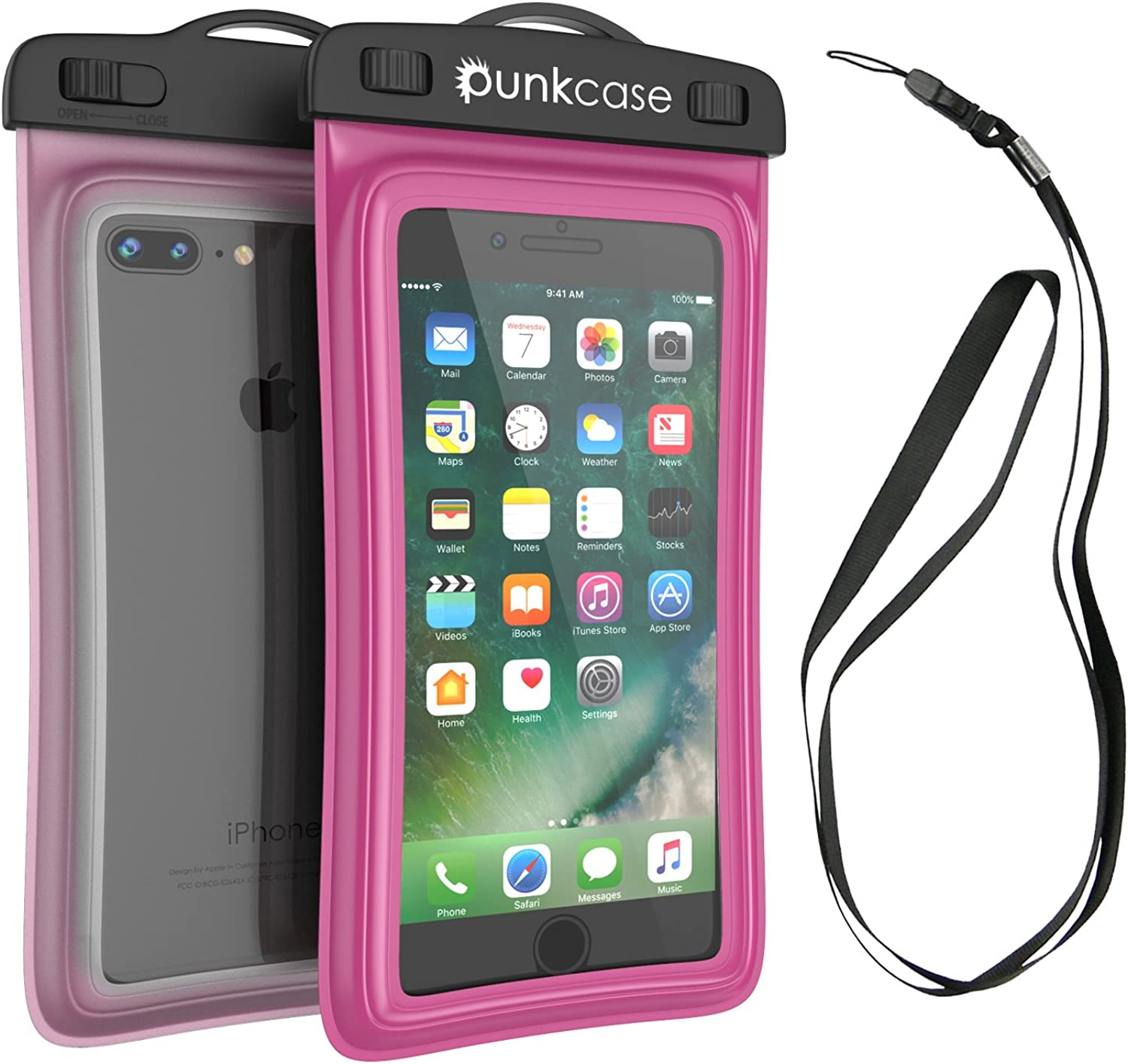 Waterproof Phone Pouch, PunkBag Universal Floating Dry Case Bag for Most Cell Phones incl. iPhone 8 Plus & Samsung Galaxy S9 | Perfect for Keeping Your Cellphone & Valuables Dry and Safe
