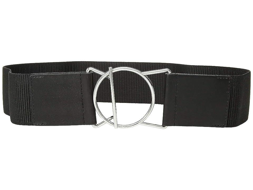Calvin Klein 60 mm Stretch Belt (Black/Brushed Nickel) Women