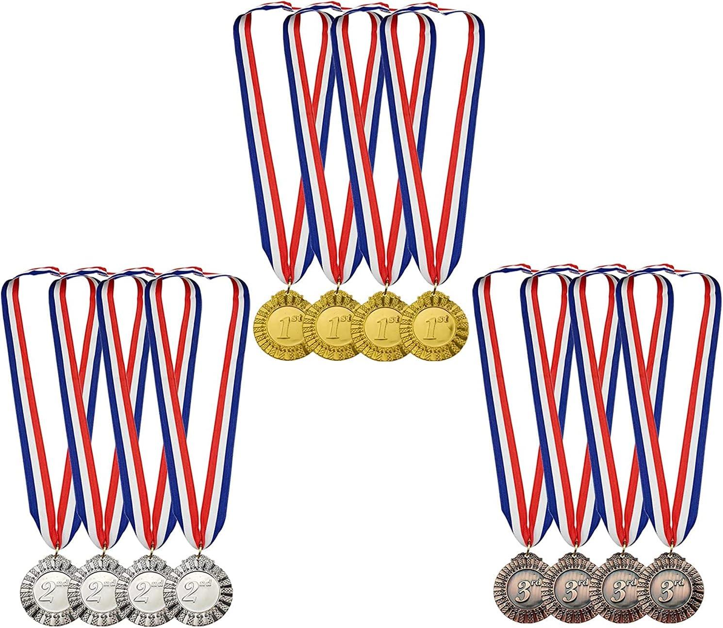 MOMOONNON service 12 Pieces Metal Winner Regular discount Silver Gold Medals Bronze Award