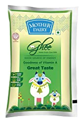 Mother Dairy Cow Ghee Pouch, 1L