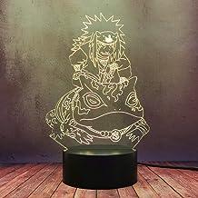 Anime Naruto Jiraiya Gamabunta Decor Table Lamp LED 3D Colorful Night Light Creative Cartoon Kid Anime Manga Toy Lamp USB ...