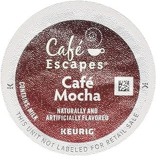 Gourmet Single Cup Coffee CAF Cafe Mocha - 12 K-Cups CAF Esca[ES,(Green Mountain Coffee Roasters)