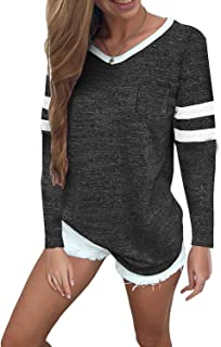 Twcx Womens Long Sleeve Back-Tie Loose Fit Irregular Pullover Sweatshirts