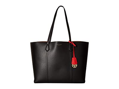 Tory Burch Perry Triple-Compartment Tote (Black) Tote Handbags
