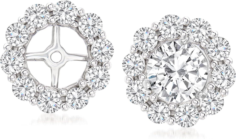 Ross-Simons 1.00 ct. t.w. Diamond Earring Jackets in 14kt White Gold