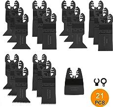 Glossia 100 Pi/èCes S/éRies Oscillant Multi Outil Lames de Scie Jeu pour Fein Majeua Multitool Lames Ensemble Jeu Lames Multi Outil Lames