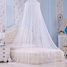 Faswin Mosquito Bed Net   Large Screen Netting Bed Canopy Circular Curtain   Keeps Away Insects & Flies   Home & Travel