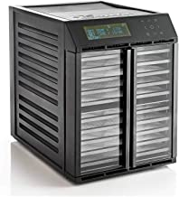 Excalibur RES10 – 10 Tray Electric Food Dehydrator, 99 hour Smart Digital Controller, 2 Independent Drying Zones, Clear Do...