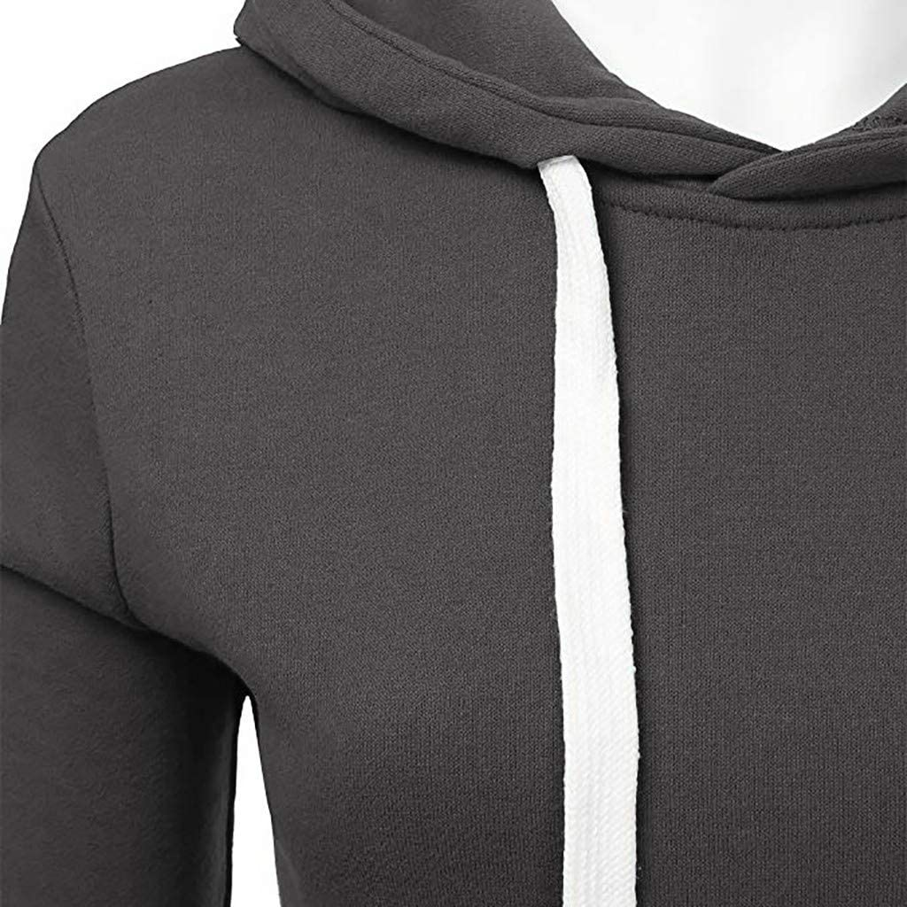 Fastbot women's Solid Color Hoodie Turtleneck Hooded Sweatshirt Fleece Lined Pullover Basic Striped Sweater Patchwork Tops