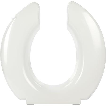 White Big John Original Toilet Seat w Cover capacity of over 1,200 pound - 1W
