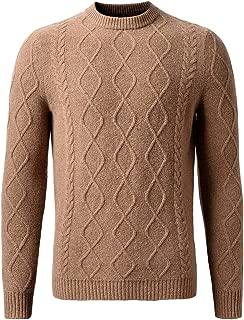 织礼 Zhili Men's 100% Australian Superfine Merino Wool Sweater Crew Neck