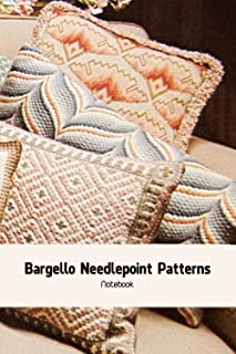 Bargello Needlepoint Patterns Notebook: Notebook|Journal| Diary/ Lined - Size 6x9 Inches 100 Pages