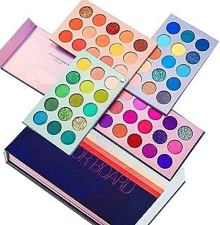 Qumeidie Color Board Palette Eyes Shadow 60 Color Makeup Palette Highlighters Eye Make Up High Pigmented Professional Eye ...