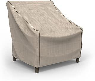Budge P1W01PM1 Chair Heavy Duty and Waterproof Patio Furniture Covers, Medium, Tan Tweed