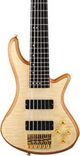 $699 » Schecter Guitar Research Stiletto Custom 6 6-String Bass Guitar Satin Natural