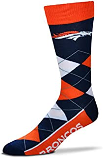 For Bare Feet Adult NFL Argyle Crew Socks - One Size Fits Most
