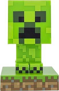 Paladone Minecraft Creeper 3D Icon Light BDP | Licencia oficial de luz verde pixelada brillante o lámpara de escritorio | Idea de regalo única para jugadores | Alimentado por 2 pilas AAA