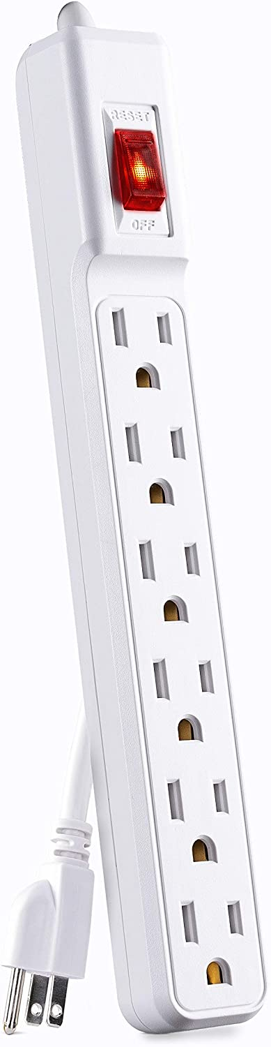 CyberPower GS60304 Power Strip outlet White Cord Large special price !! 6-Outlets 3-Foot