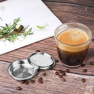 Voor stianloze stalen herbruikbare capsule voor Senseo-koffiefilter espresso compatibel met Philips Machine (Farbe : Plum)