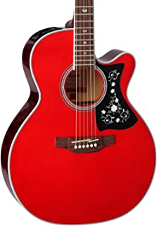 Takamine 6 String Acoustic-Electric Guitar, Right Handed, Wine Red (GN75CE WR)