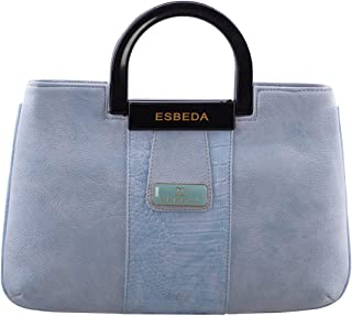 ESBEDA Light Blue Solid Pu Synthetic Fabric Armbag For Womens