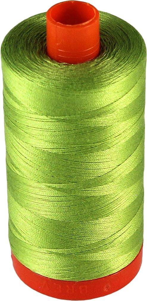 Aurifil Cotton Mako 50wt Spring Green Thread Large Spool 1421 yard MK50 1231