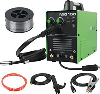 MIG Welding Machine 150amp 220V Stick Welder Gas/Gasless 2 in 1 Flux Core/Solid Wire Inverter Welding Machine MMA MIG MAG IGBT Inverter Stick Welder