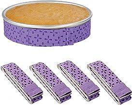 4-Piece Bake Even Strip,Cake Pan Strips,Cake Pan Dampen Strips,Cake Pan Strips, Super Absorbent Thick Cotton,Keeps Cakes M...