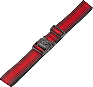 Wenger 604597 Locking Luggage Strap, Black, Red, 182 Centimeters