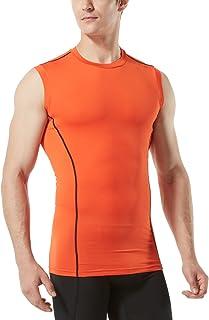 (テスラ)TESLA タンクトップ メンズ ラウンドネック ノースリーブ スポーツシャツ [UVカット・吸汗速乾] コンプレッション パワーストレッチ アンダーウェア スポーツインナー シャツ