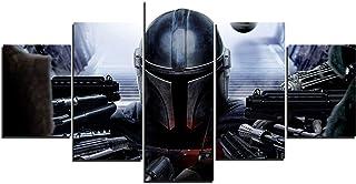 The Mandalorian Star Wars Art Toile Posters Décoration de Maison Cadre Art Mural 5 Pièces Tableaux pour Salon Impression H...